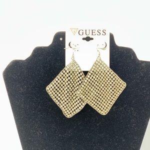 Beautiful women's guess earrings silver weightless